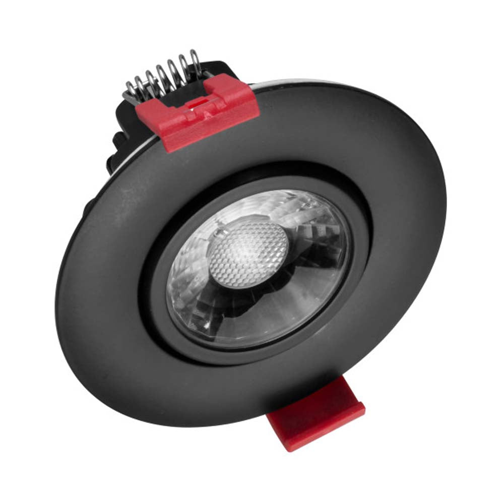 NICOR 3-inch LED Gimbal Recessed Downlight in Black, 4000K