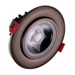 NICOR 4-inch LED Gimbal Recessed Downlight in Oil-Rubbed Bronze, 2700K