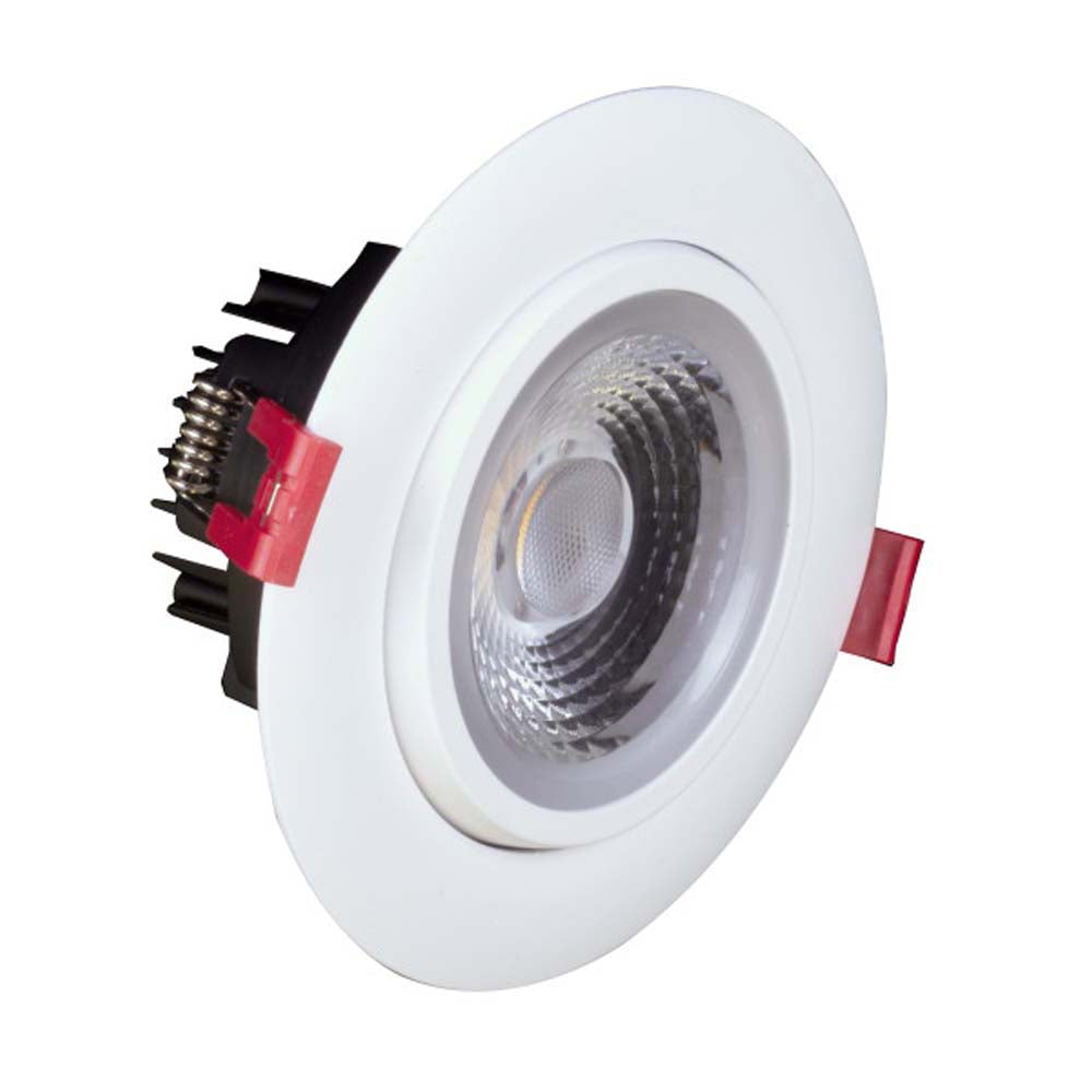 NICOR 4-inch LED Gimbal Recessed Downlight in White, 3000K
