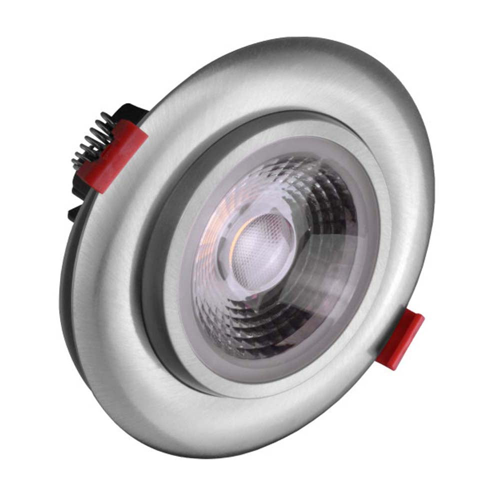 NICOR 4-inch LED Gimbal Recessed Downlight in Nickel, 5000K