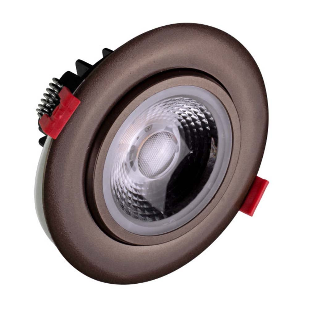 NICOR 4-inch LED Gimbal Recessed Downlight in Oil-Rubbed Bronze, 5000K