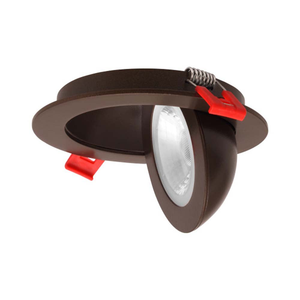 DGF Series 4 in. Oil-Rubbed Bronze Recessed LED Adjustable 90deg. Gimbal