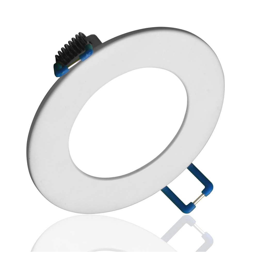 NICOR DLE3 Series 3 in. Round White Flat Panel LED Downlight in 4000K