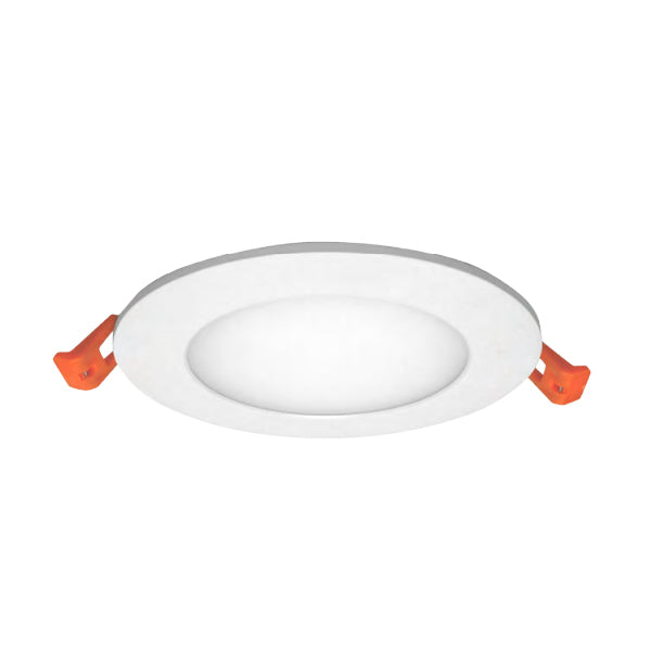 NICOR 4 in. White Round LED Recessed Downlight in 2712K