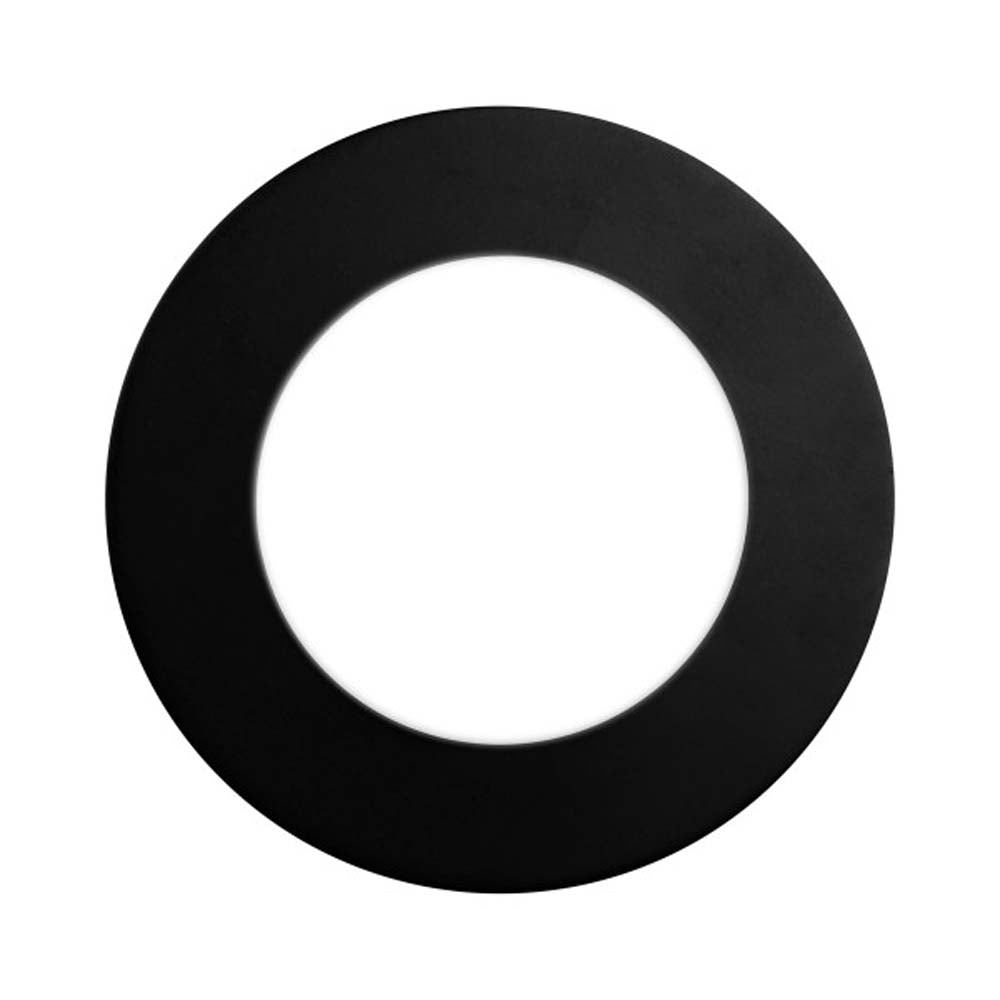Round Black Faceplate for NICOR DLE4 Series Downlights
