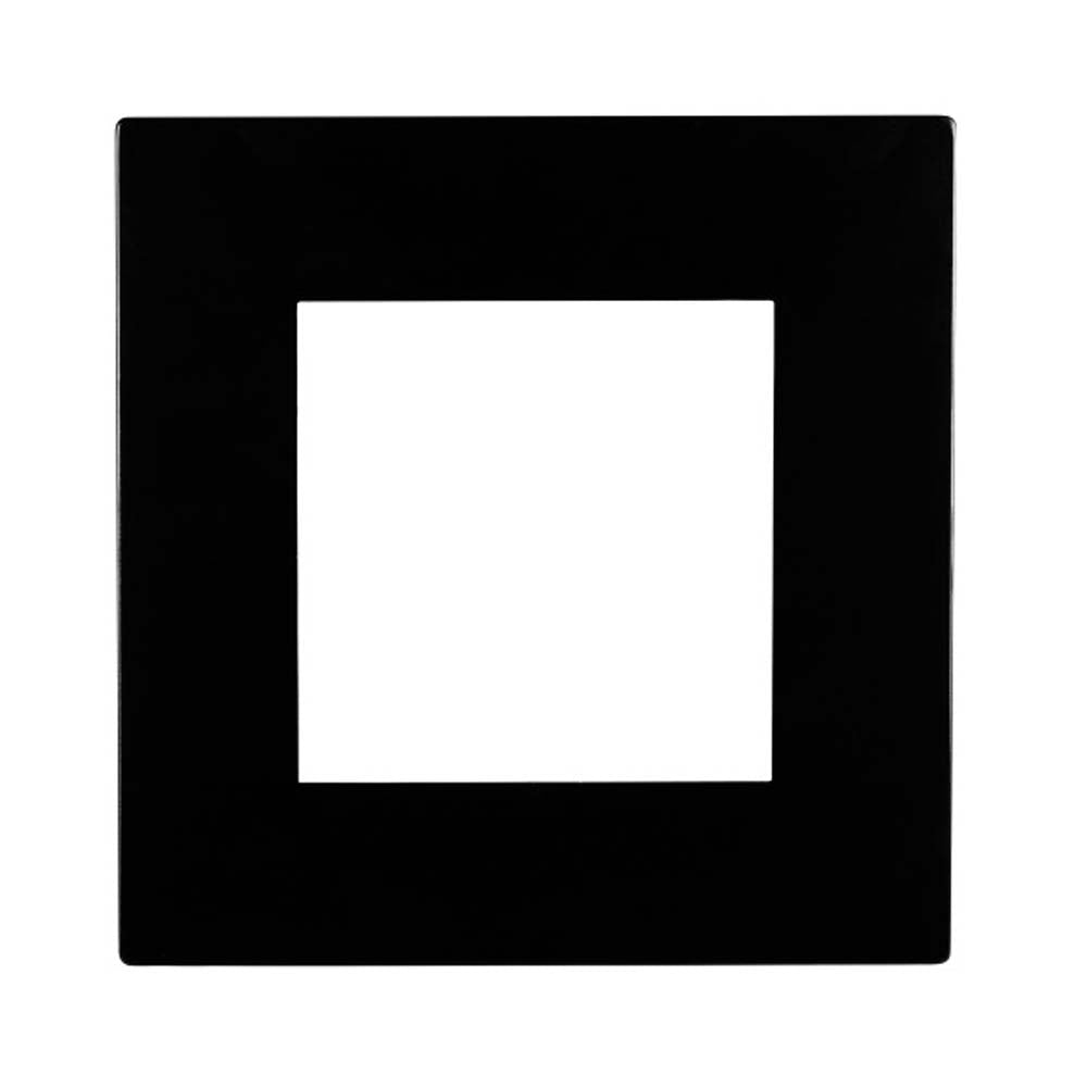 Square Black Faceplate for NICOR DLE4 Series Downlights