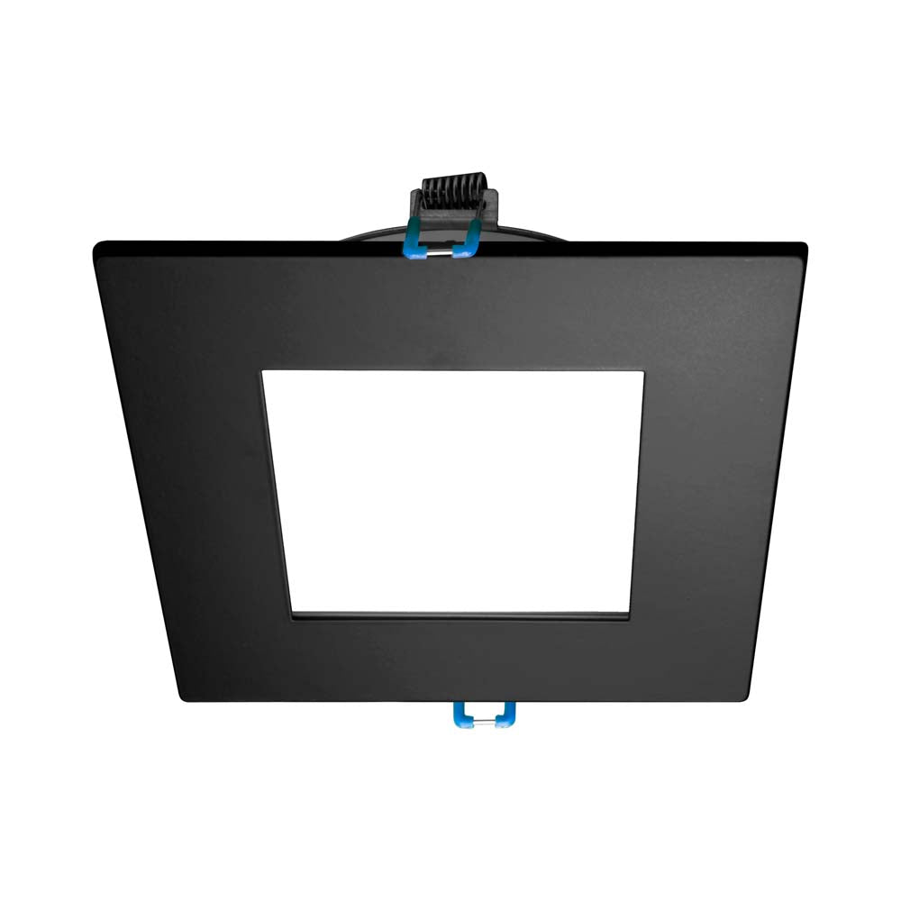 DLE4 Series 4 in. Square Black Flat Panel LED Downlight in 3000K