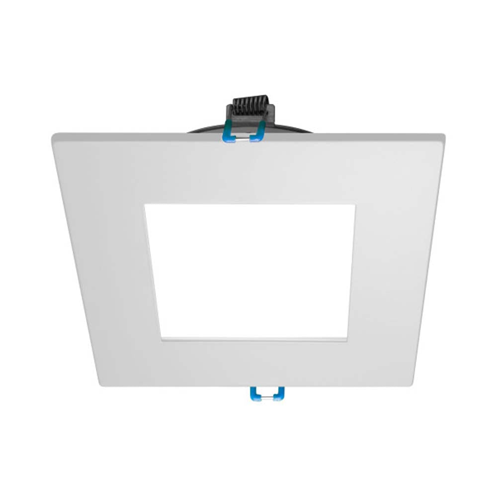 DLE4 Series 4 in. Square White Flat Panel LED Downlight in 3000K