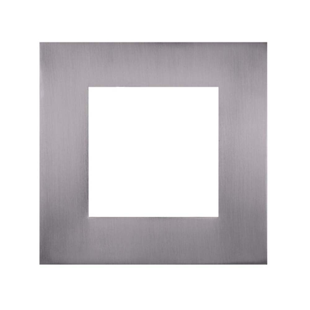 Square Nickel Faceplate for NICOR DLE6 Series Downlights