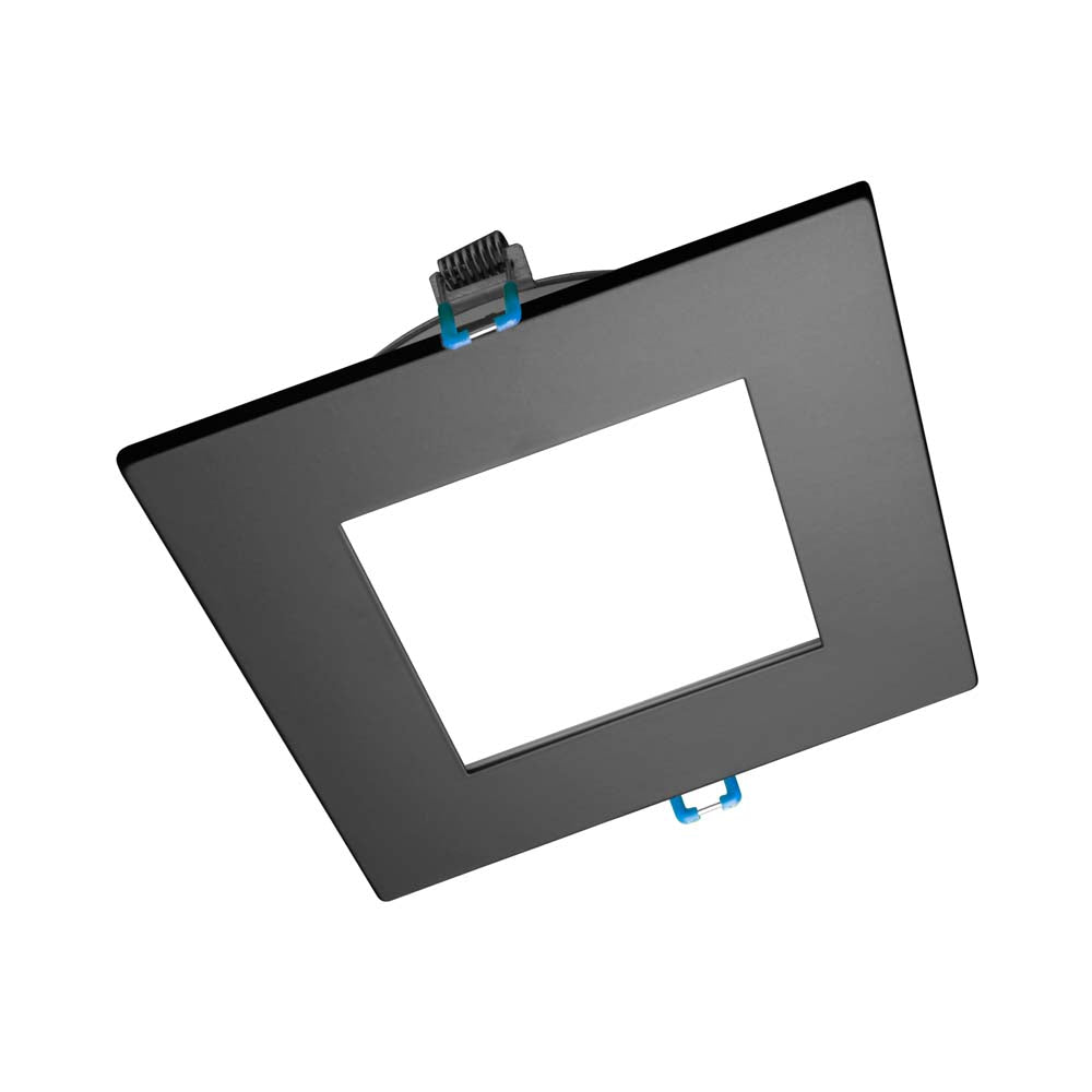 DLE6 Series 6 in. Square Black Flat Panel LED Downlight in 3000K
