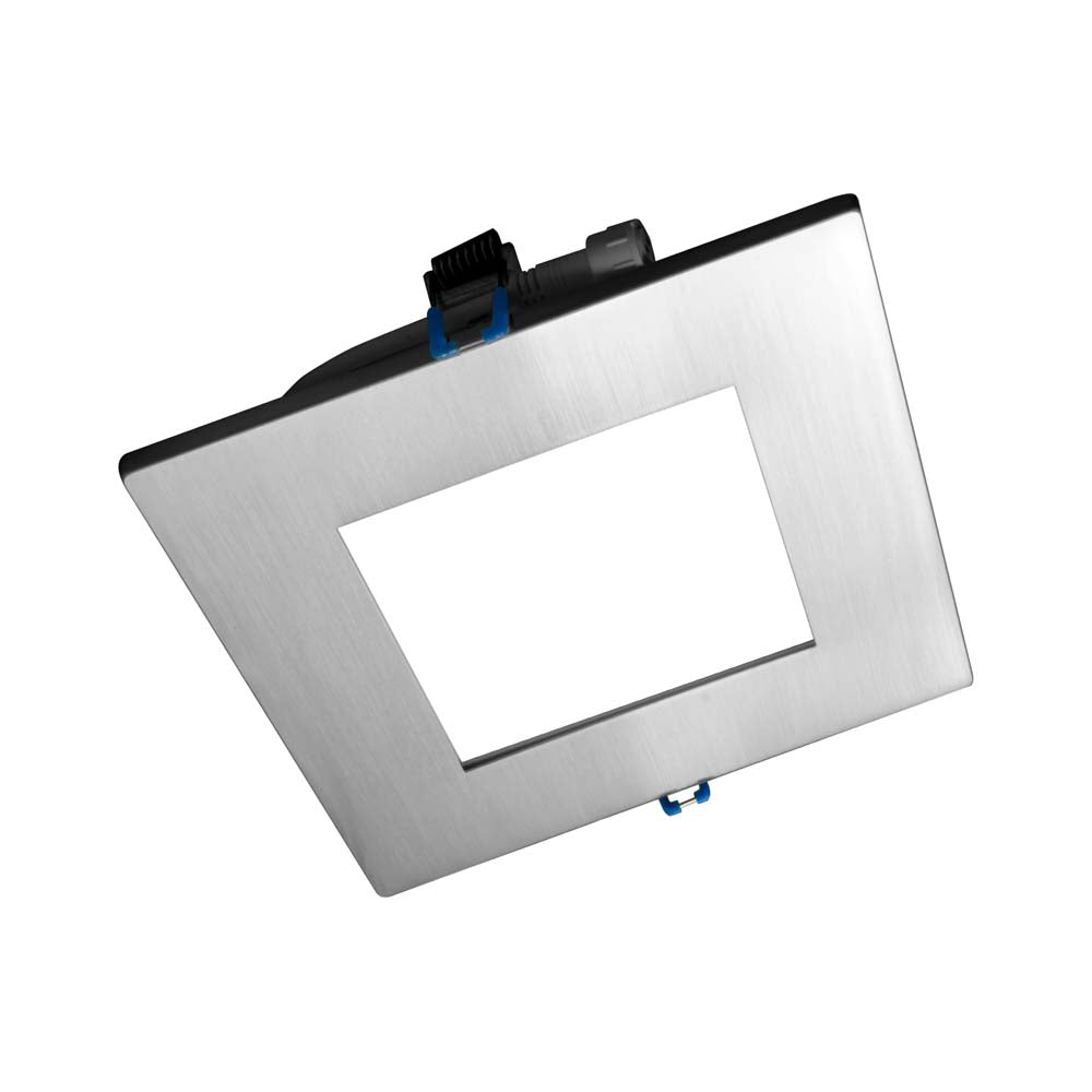 DLE6 Series 6 in. Square Nickel Flat Panel LED Downlight in 3000K