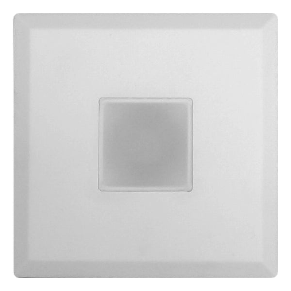 DLF SureFit Series Trim Plate, Square with White Finish