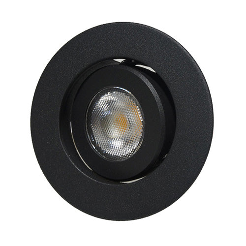 NICOR 2 in. LED Gimbal Downlight in Black, 3000K