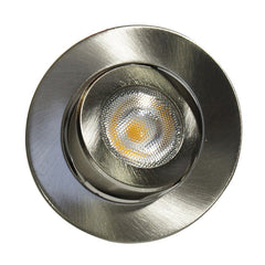 NICOR 2 in. LED Gimbal Downlight in Nickel, 3000K