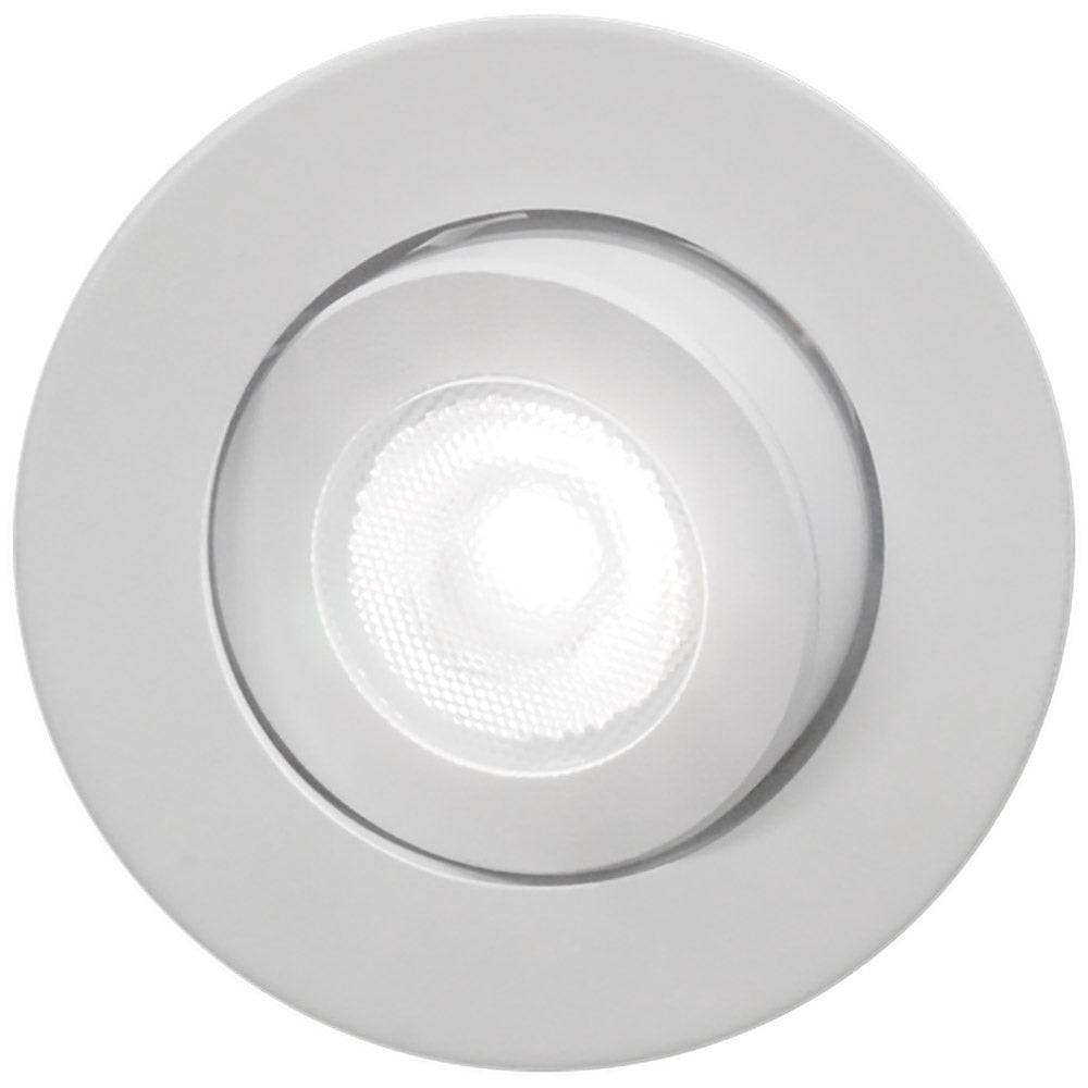 NICOR 2 in. LED Gimbal Downlight 3000 Soft White 700Lm with White Trim