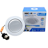 NICOR 4 in. LED Gimbal Downlight Retrofit Kit in 2700K