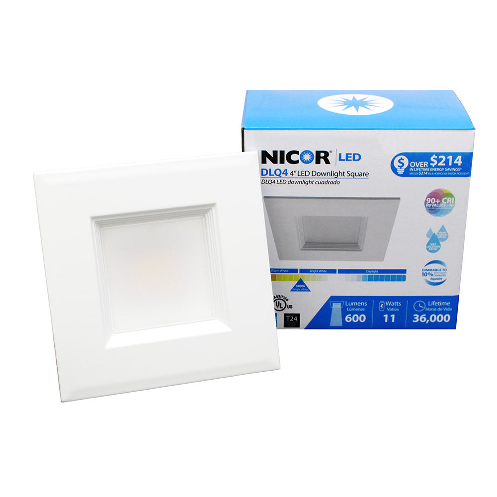 NICOR 4 in. Square LED Downlight Retrofit Kit in 4000K