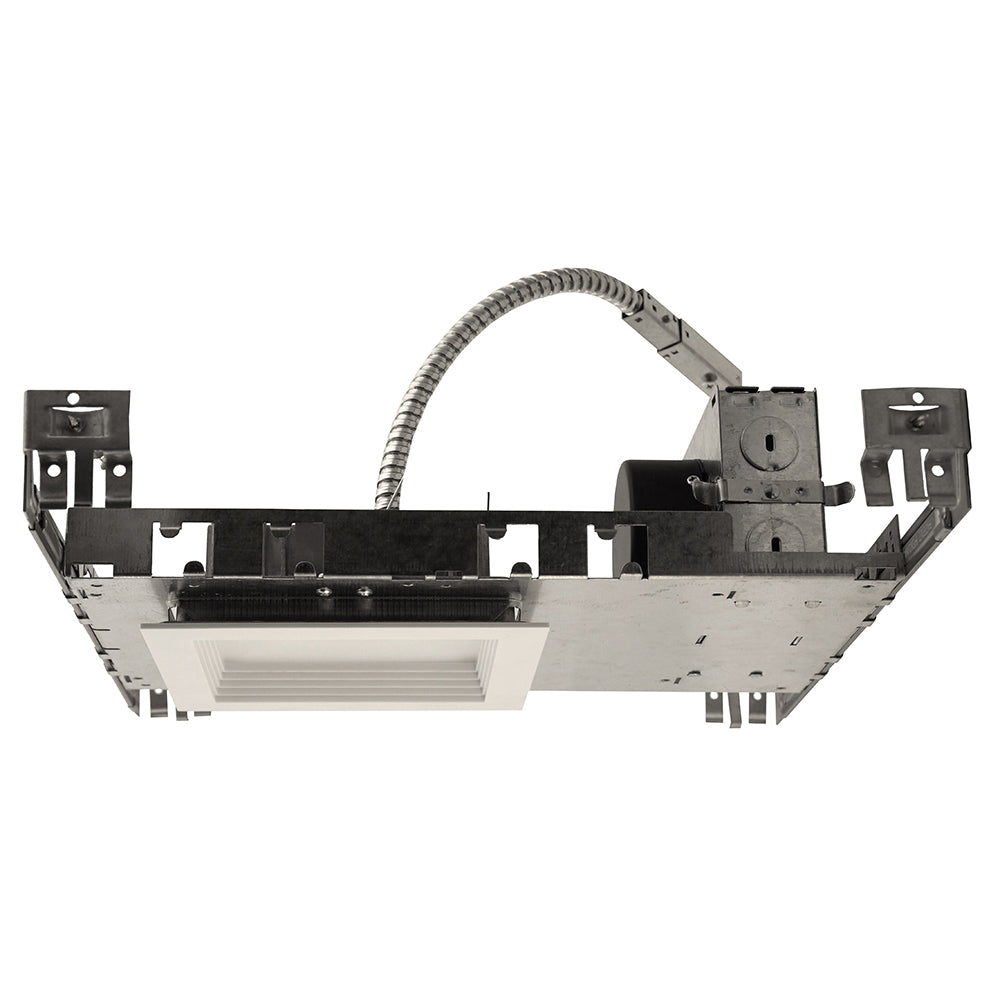 NICOR 5 in. Square Baffle New Construction Downlight Kit with Housing in 3000K