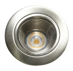 NICOR 2 in. LED Downlight with Baffle Trim in Nickel, 3000K