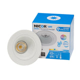 NICOR 2 in. LED Downlight with Baffle Trim in White, 4000K