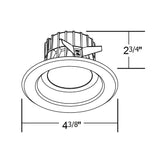 NICOR D-Series 3 in. White Dimmable LED Recessed Downlight 3000K_3