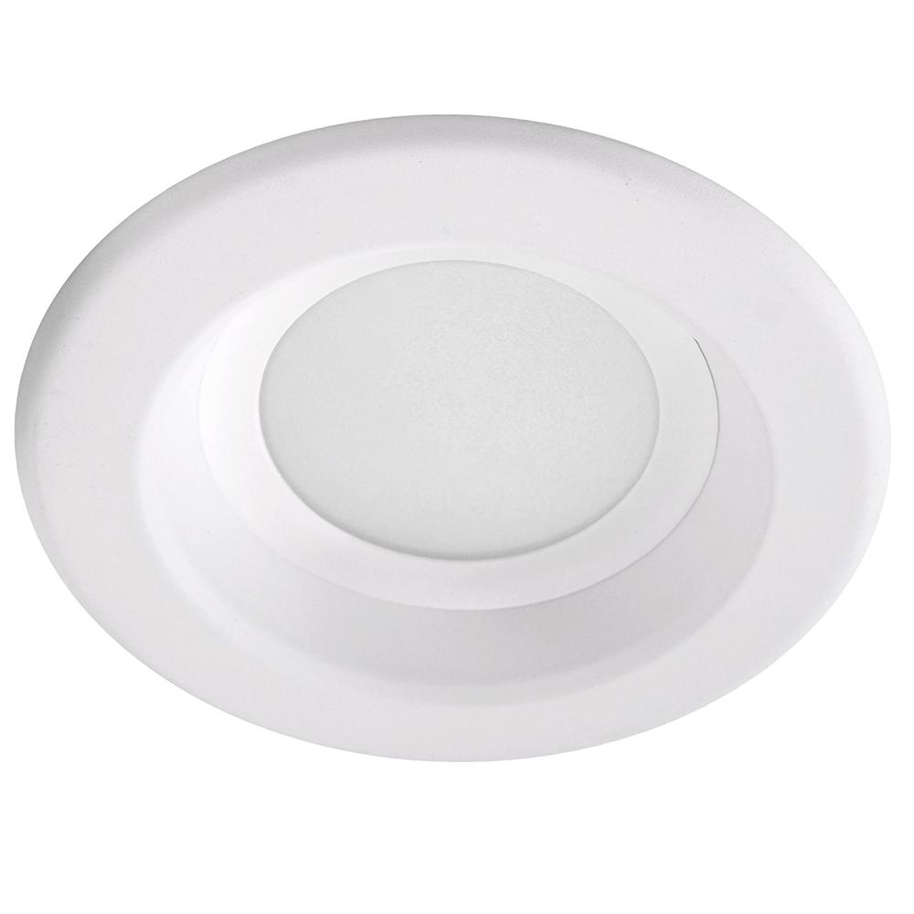 NICOR 4 inch LED Recessed Retrofit Kit 4000K Dimmable White Trim