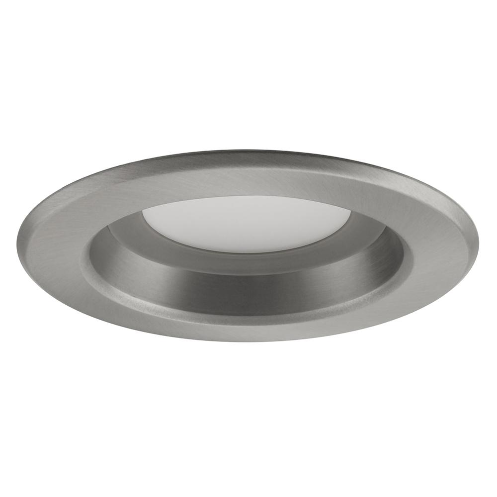 NICOR 4 inch Surface Mount LED Downlight 5000K Dimmable White Nickel Trim.