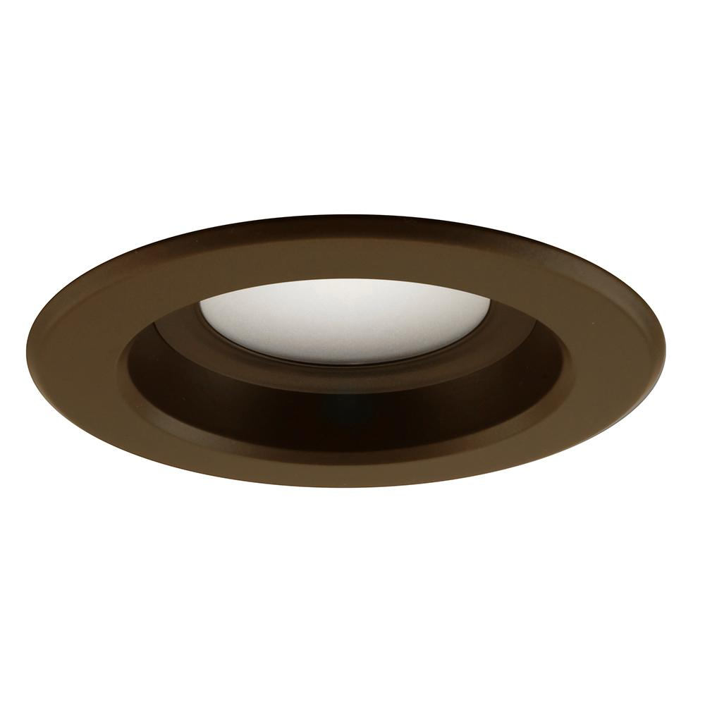 NICOR 4 inch LED Recessed Retrofit Kit 5000K Dimmable Oil Rubbed Bronze Trim