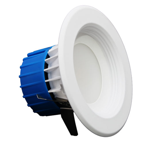 NICOR 4 inch LED Recessed Downlight 600LM 2700K Dimmable White Baffle