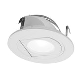 NICOR 4 in. White LED Recessed Retrofit Adjustable Retractable Downlight, 3000K - BulbAmerica