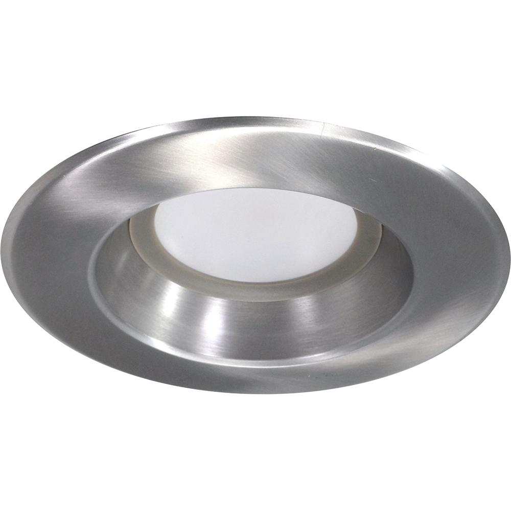 NICOR 5-6 inch LED Recessed Downlight 900LM 4000K Dimmable Nickel Finish.