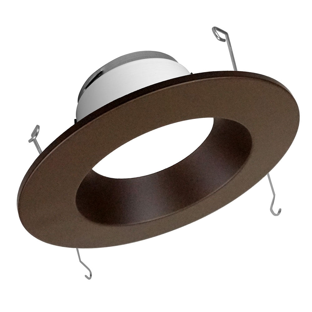 DLR56 (v5) 5in/6in Oil-Rubbed Bronze 800 Lumen Recessed LED Downlight, 3000K