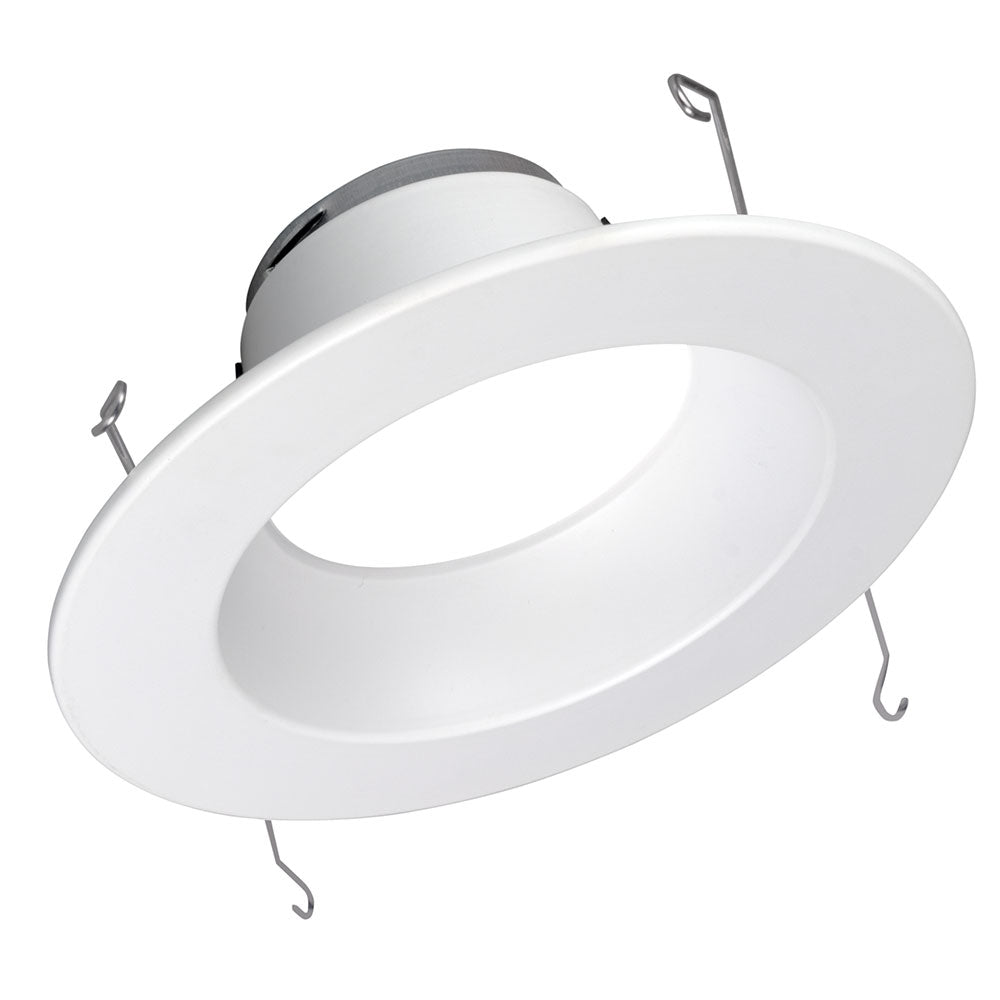 DLR56 (v5) 5in/6in 800Lm Recessed LED Downlight, 5000K, White Faceplate