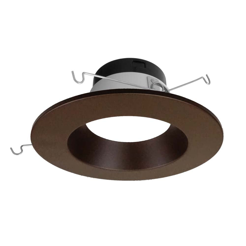 Nicor 5-6 in. Selectable CCT in Oil-Rubbed Bronze LED Recessed Downlight, Dimmable