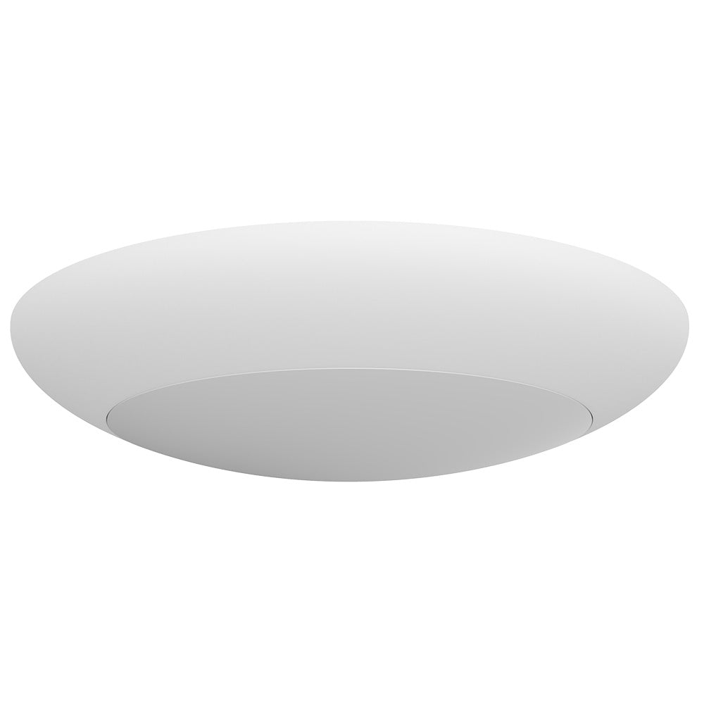NICOR 4 inch Surface Mount LED Downlight 3000K Dimmable White Finish