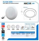NICOR 5-6 in. inch Surface Mount LED Downlight 3000K Dimmable White Finish_2