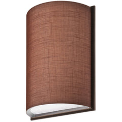 Lithonia DLSD16 BZ F02 Small Half Cylinder Chocolate Linen Frame Sconce, Bronze
