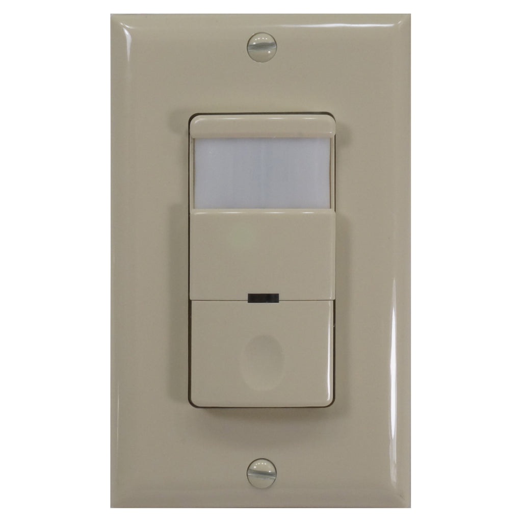 NICOR Occupancy Passive Infrared Motion Sensor Wall Switch w/ Night Light Ivory