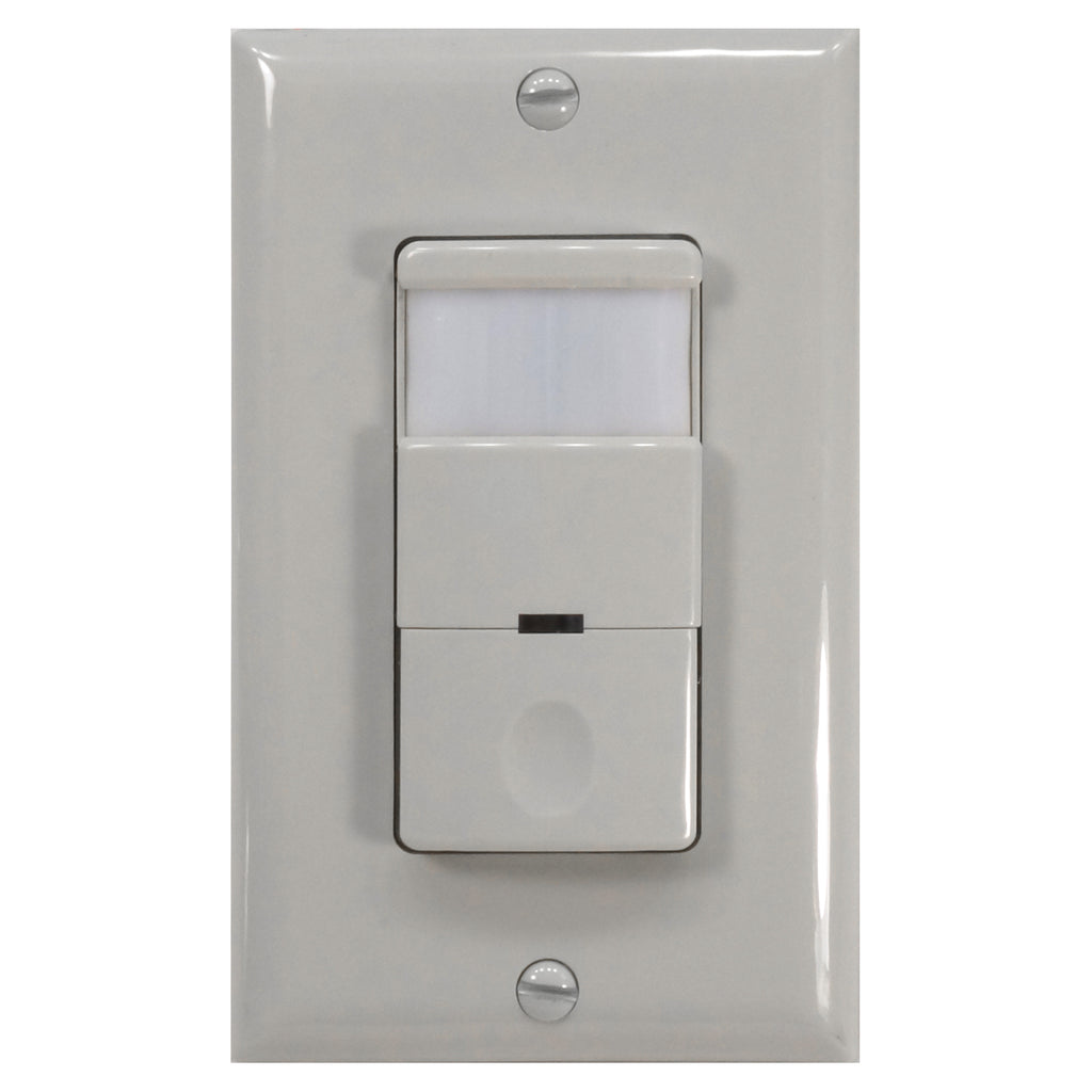 NICOR Occupancy Passive Infrared Motion Sensor Wall Switch w/ Night Light White