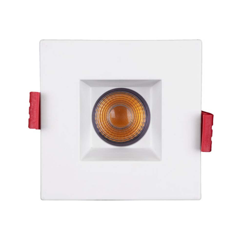 NICOR 2-inch Square LED Recessed Downlight with Baffle in White, 4000K