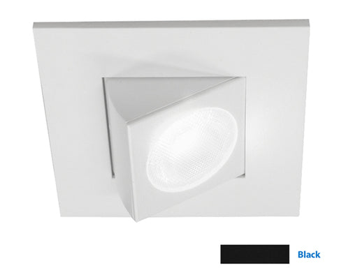 NICOR 2 in. Square Eyeball LED Downlight in Black, 3000K