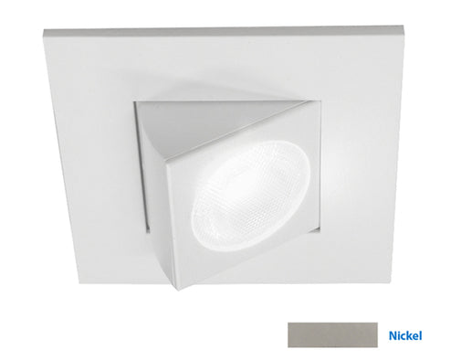 NICOR 2 in. Square Eyeball LED Downlight in Nickel, 3000K