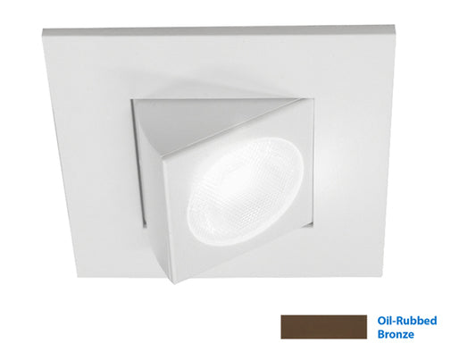NICOR 2 in. Square Eyeball LED Downlight in Oil-Rubbed Bronze, 3000K