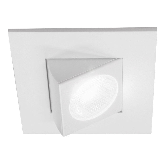 NICOR 2 in. Square Eyeball LED Downlight 2700K Warm White 663Lm with White Trim