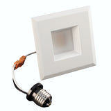 NICOR 3 in. White Square LED Recessed Downlight in 4000K - BulbAmerica