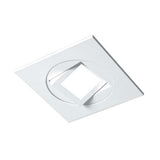 4-inch White Square Multi-Adjustable Recessed LED Downlight, 3000K