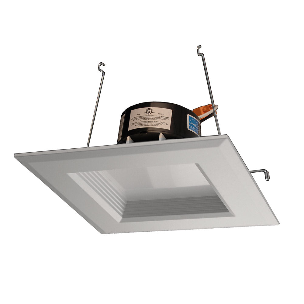 NICOR 5 in. White Square LED Recessed Downlight in 2700K