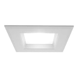 NICOR 6 in. White Square LED Recessed Downlight in 3000K - BulbAmerica