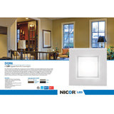 NICOR 6 in. White Square LED Recessed Downlight in 3000K_3