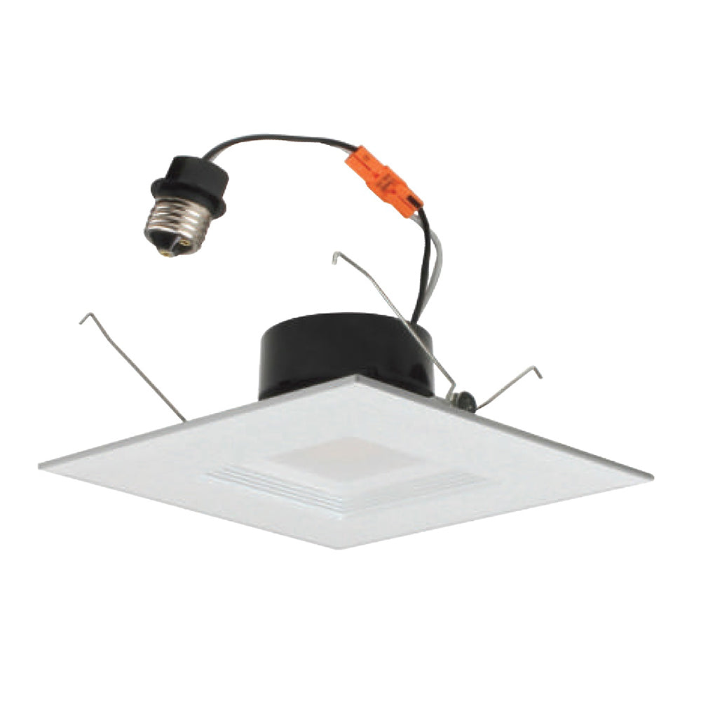 NICOR 6 in. White Square LED Recessed Downlight in 4000K